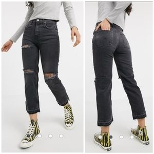NEW Free People High Waist  Distressed Jeans